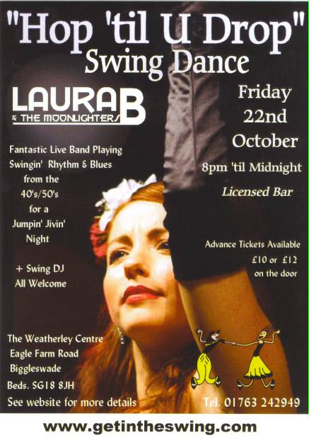 Laura B & The Moonlighters Flyer 22-10-10